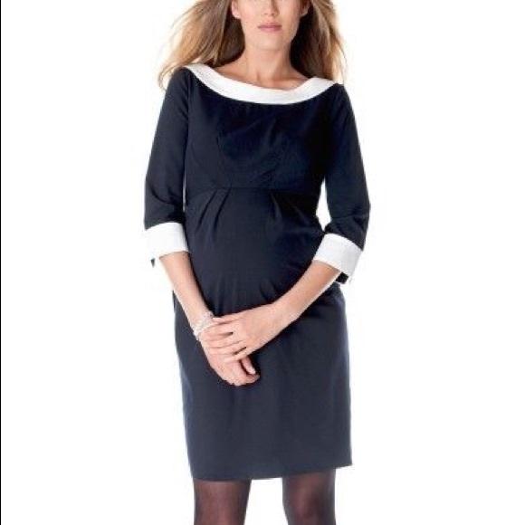 ee0fedca02e57 Seraphine Dresses   Navy Boatneck Maternity Dress Nwt   Poshmark